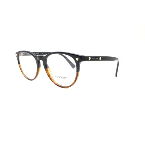Versace MOD. 3257 5117 Medium Black Brown Eyewear