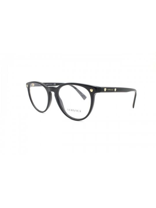 Versace Mod. 3257 GB1 Panto Full Frame Black Acetate