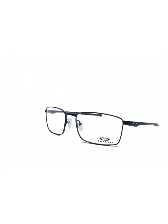 Oakley OA 3227 0457 Rectangle Navy Blue Full Frame With Stainless Steel