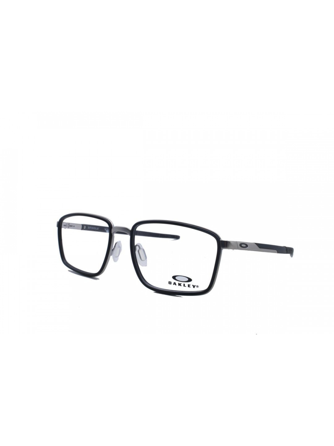 Oakley OA 3235 0154 Rectangle Black Full Frame With Stainless Steel