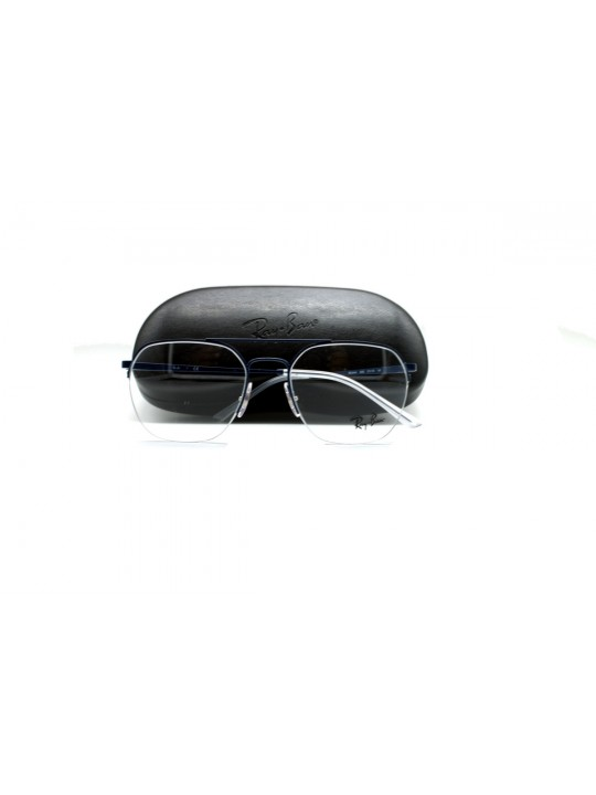 RayBan RB 6444 3060 Square Blue Half Frame With Stainless Steel