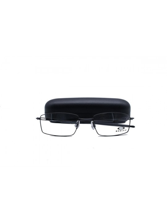 Oakley OA 3136 0253 Rectangle Black Full Frame With Stainless Steel