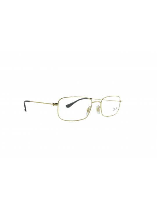 RayBan RB 6442 2500 Rectangle Golden Full Frame With Metal