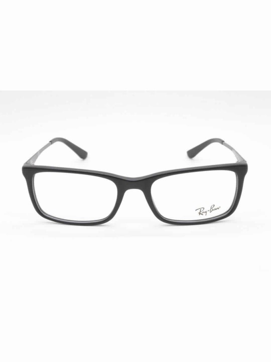 RayBan RB 5312-I 2477 Black Rectangle Acetate With Full Frame