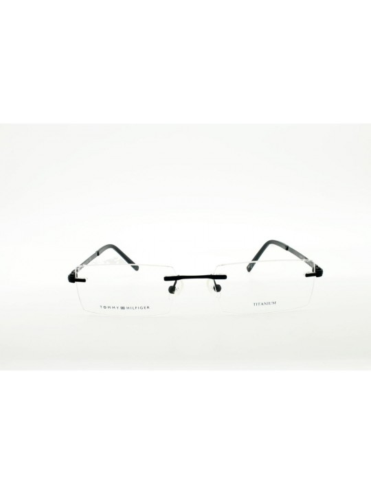 Tommy Hilfiger TH 5689  I C3 Rectangle Black Rimless Stainless Steel