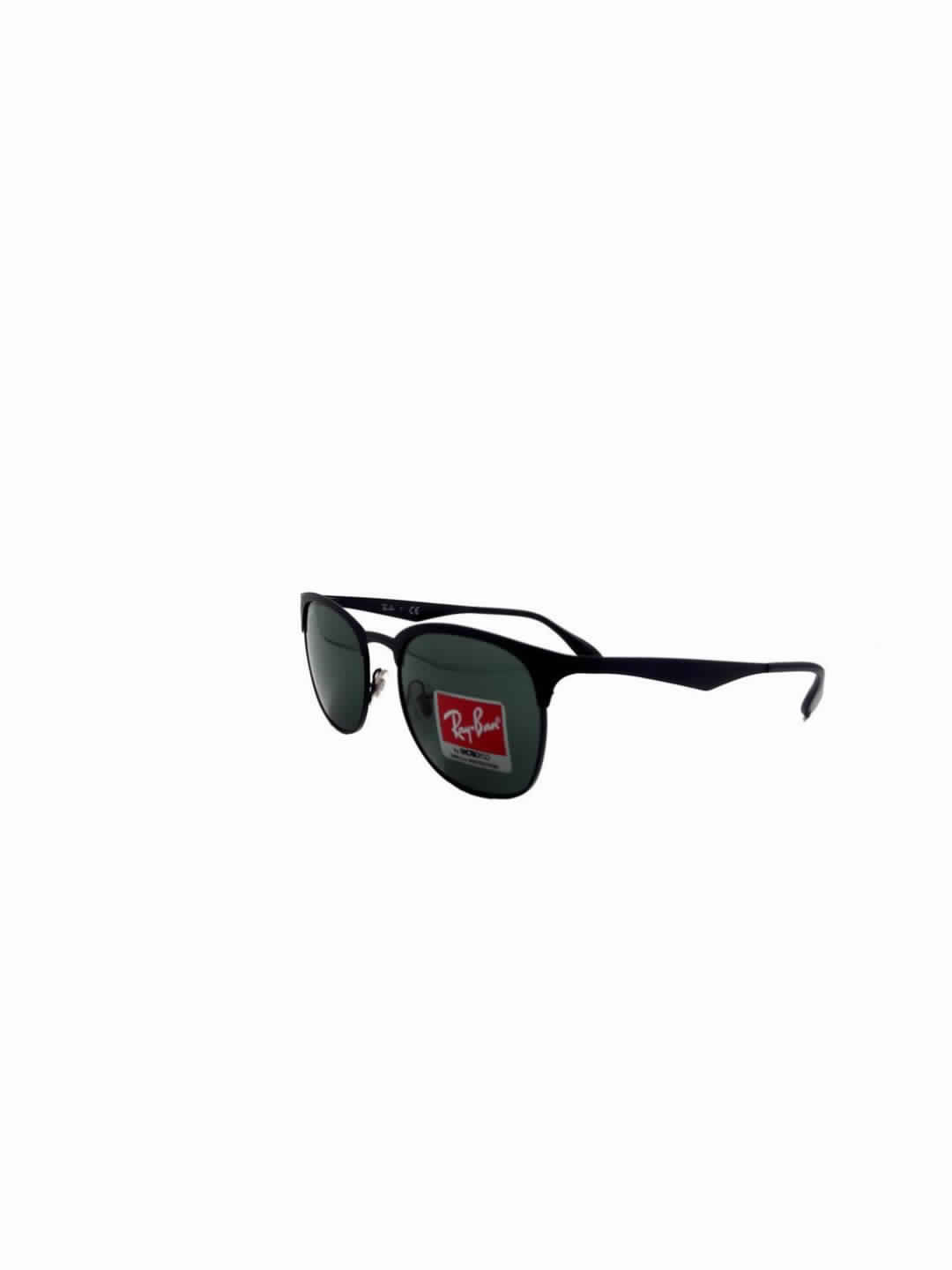 RayBan RB 3538 186/71 3N Club Master Black Full Frame With Stainless Steel
