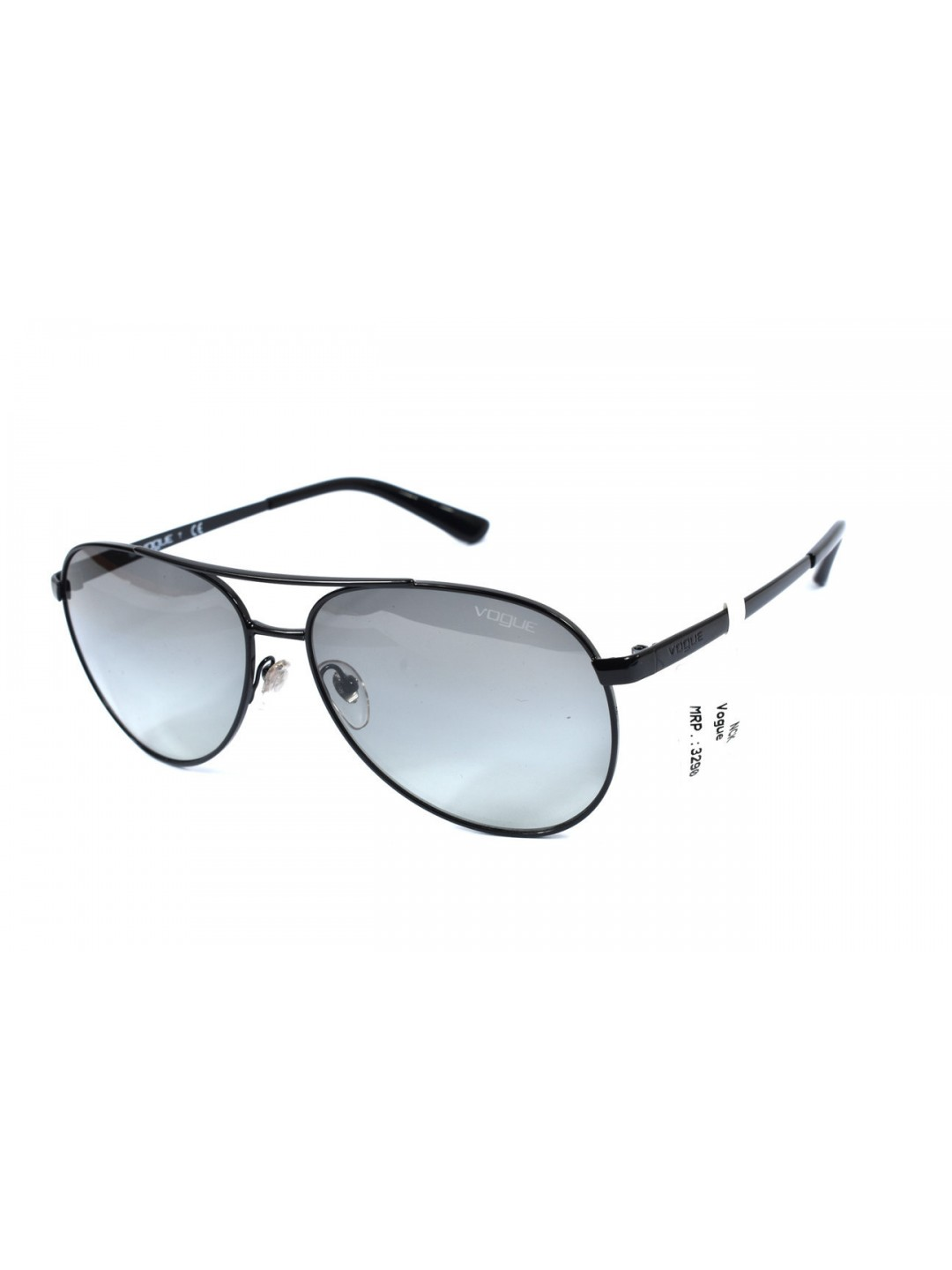 Vogue VO 3991-SI 352/11 2N Black Aviator With Stainless Steel Full Rim