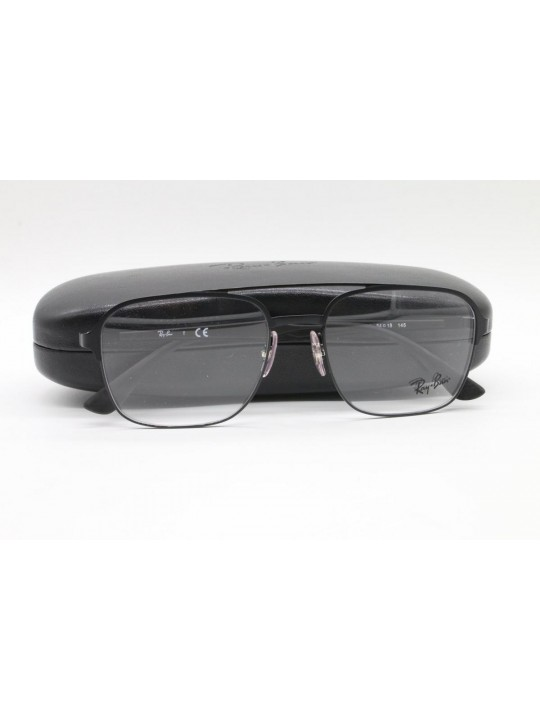 RayBan RB 6404 2944 Black Square Full Frame With Stainless Steel