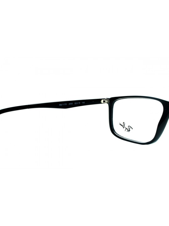 RayBan RB 7170 2000 Rectangle Black Full Frame With Acetate