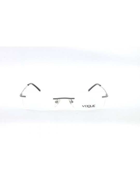 Vogue VO 3851-I 548 Rectangle Silver Rimless Stainless Steel